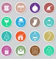 Christmas icon sticker set vector image vector image