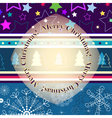 Christmas striped greeting card vector image vector image
