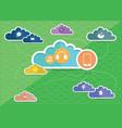 cloud-computing-concept vector image vector image