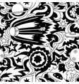 crazy cartoon seamless pattern with satelite vector image vector image