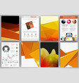 creative orange backgrounds and abstract concept vector image