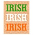 Creative placard of Ireland vector image