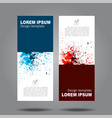 design vertical template flyer banner vector image