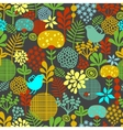 eamless pattern with colorful birds vector image vector image