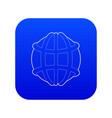 earth icon blue vector image vector image