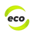 eco logo template vector image vector image