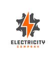 electrical grid repair logo vector image vector image