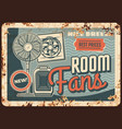fans and heaters air ventilation metal plate rust vector image