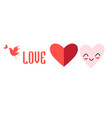 festive elements heart for valentines day vector image vector image
