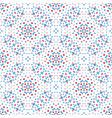 floral pattern blue red boho vector image vector image