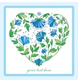 Flower heart for wedding or Valentines day design vector image vector image