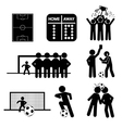 Football or Soccer Icons vector image