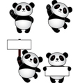 funny Panda Cartoon vector image vector image
