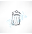 garbage grunge icon vector image vector image