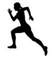 girl athlete runner fast running vector image vector image