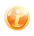 Glossy Information icon vector image