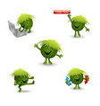 green monster character for games web pages vector image