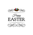 happy easter spring nest with bird eggs vector image