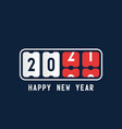 happy new year with 2021 scoreboard concept vector image vector image