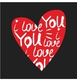 heart made of I love you phrase vector image vector image