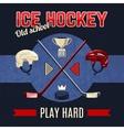Ice Hockey Poster vector image