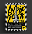 indie rock party or concert flyer poster design vector image