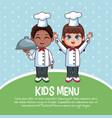 kids menu template vector image vector image