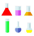 labware toxic chemicals and fluids vector image vector image