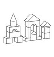 line style toy building tower for vector image