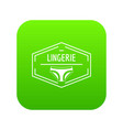 lingerie body icon green vector image vector image