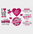 love day celebration label collection vector image vector image