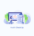 medical check up concept doctor and nurse vector image