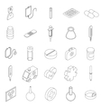 Medicine equipment icons set isometric 3d style vector image vector image