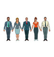 men and women joined hands civil protest vector image vector image