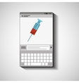 mobile device health care laboratory vector image vector image