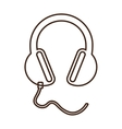 monochrome contour headset stereo sound vector image vector image