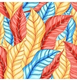 multicolored pattern of leaves vector image vector image