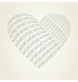 Nature heart vector image vector image