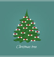 new year tree decorated with dog food vector image vector image