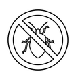 No bug sign icon outline style vector image vector image