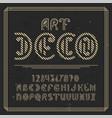 original label typeface named art deco vector image