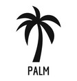 palm tree icon simple black style vector image vector image