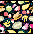 pattern tropical fruits vector image