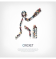 People sports cricket