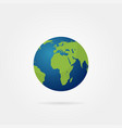 planet earth with shadow on a grey background vector image vector image