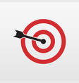 red target icon isolated modern simple flat conce vector image
