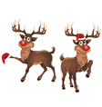 Rudolph The Reindeer with Christmas Hat vector image vector image