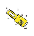 saw cutter icon design vector image
