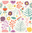 seamless pattern flowers bouncy vibrant color illu vector image vector image