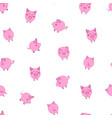 seamless pattern with cute cartoon small pink vector image vector image